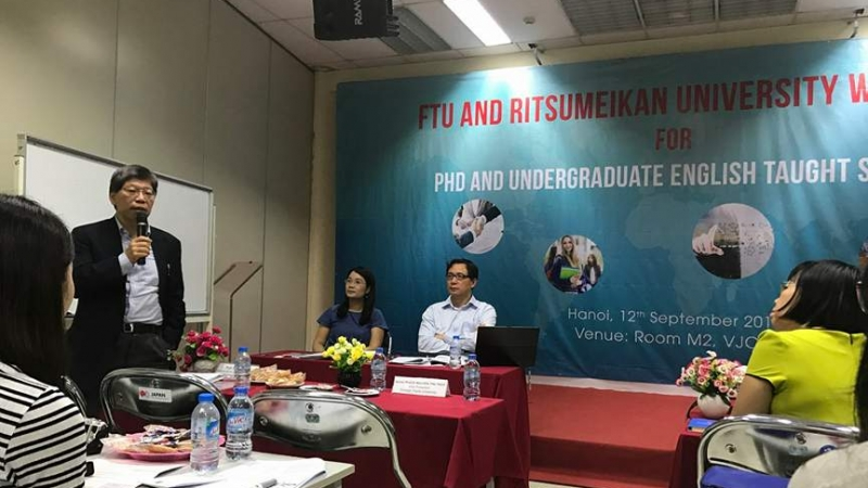 CONFERENCE FOR DOCTORAL STUDENTS AND ENGLISH - TAUGHT UNDERGRADUATE STUDENTS OF FIE, FTU JOINED ORGANIZED WITH GRADUATE SCHOOL OF INTERNATIONAL RELATIONS, RITSUMEIKAN UNIVERSITY
